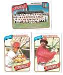 1980 Topps - ST LOUIS CARDINALS Team Set