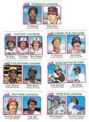 1980 Topps - League Leaders 7 card subset