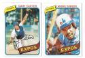 1980 Topps - MONTREAL EXPOS Near Team Set w/o #479