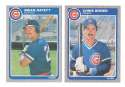 1985 Fleer Update - CHICAGO CUBS Team Set