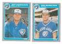 1985 Fleer Update - TORONTO BLUE JAYS Team Set