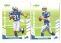 2007 Score Football Team Set - DETROIT LIONS