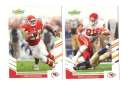 2007 Score Football Team Set - KANSAS CITY CHIEFS