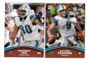 2011 Topps Rising Rookies Football Team Set - DETROIT LIONS