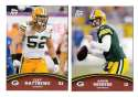 2011 Topps Rising Rookies Football Team Set - GREEN BAY PACKERS