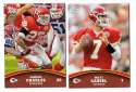 2011 Topps Rising Rookies Football Team Set - KANSAS CITY CHIEFS