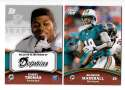 2011 Topps Rising Rookies Football Team Set - MIAMI DOLPHINS