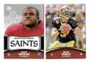 2011 Topps Rising Rookies Football Team Set - NEW ORLEANS SAINTS