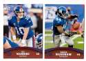 2011 Topps Rising Rookies Football Team Set - NEW YORK GIANTS