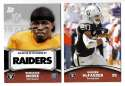 2011 Topps Rising Rookies Football Team Set - OAKLAND RAIDERS