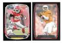 2013 Bowman Black Football Team Set - KANSAS CITY CHIEFS