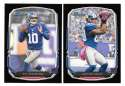 2013 Bowman Black Football Team Set - NEW YORK GIANTS