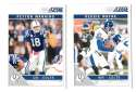 2011 Score Football Team Set made from Factory set - INDIANAPOLIS COLTS