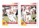 2011 Score Football Team Set made from Factory set - KANSAS CITY CHIEFS