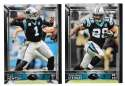 2015 Topps NFL 60th Anniversary Logo Football Team Set - CAROLINA PANTHERS