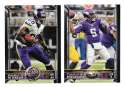 2015 Topps Super Bowl 50th Anniversary Football Team Set - MINNESOTA VIKINGS