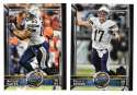 2015 Topps Super Bowl 50th Anniversary Football Team Set - SAN DIEGO CHARGERS
