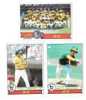 1979 Topps B EX+ Condition - OAKLAND ATHLETICS / A'S Team Set