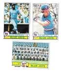 1979 Topps B EX+ Condition - TORONTO BLUE JAYS Team Set w/ Bump Wills
