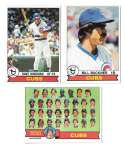 1979 Topps B EX+ Condition - CHICAGO CUBS Team Set