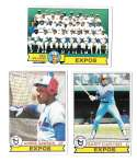 1979 Topps B EX+ Condition - MONTREAL EXPOS Team Set