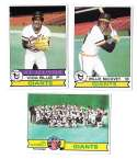 1979 Topps B EX+ Condition - SAN FRANCISCO GIANTS Team Set