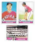 1979 Topps B EX+ Condition - CLEVELAND INDIANS Team Set