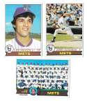 1979 Topps B EX+ Condition - NEW YORK METS Team Set