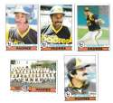 1979 Topps B EX+ Condition - SAN DIEGO PADRES Team Set