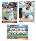 1979 Topps B EX+ Condition - TEXAS RANGERS Team Set missing Wills