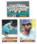 1979 Topps B EX+ Condition - KANSAS CITY ROYALS Team Set