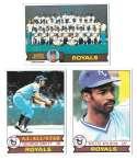 1979 Topps B EX+ Condition - KANSAS CITY ROYALS Team Set