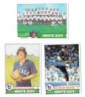 1979 Topps B EX+ Condition - CHICAGO WHITE SOX Team Set