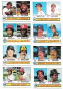 1979 Topps B EX+ Condition - League Leaders 8 card subset