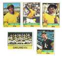1976 Topps B EX Condition - OAKLAND ATHLETICS / As Team Set