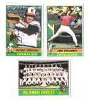 1976 Topps B EX Condition - BALTIMORE ORIOLES Team Set