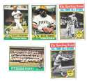 1976 Topps B EX Condition - PITTSBURGH PIRATES Team Set