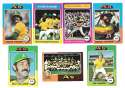 1975 Topps C EX Condtion - OAKLAND ATHLETICS / As Team Set