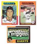 1975 Topps C EX Condtion - SAN FRANCISCO GIANTS Team Set