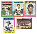 1975 Topps C EX Condtion - CLEVELAND INDIANS Team Set