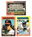 1975 Topps C EX Condtion - BALTIMORE ORIOLES Team Set