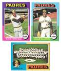 1975 Topps C EX Condtion - SAN DIEGO PADRES Team Set