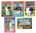 1975 Topps C EX Condtion - DETROIT TIGERS Team Set