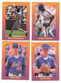 1989 Classic Travel Orange - NEW YORK METS Team Set