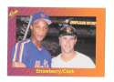 1989 Classic Travel Orange - Daryl Strawberry / Will Clark Combo card