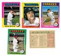 1975 O-Pee-Chee (OPC) - NEW YORK YANKEES Team Set EX+ Condition Checklist marked
