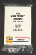 1993 Fleer Procards Minor League Team Set - Kane County Cougars (Marlins) Charles Johnson