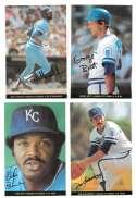 1983 Topps Foldouts (Hand Cut) - KANSAS CITY ROYALS Team Set