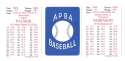 1972 APBA (Reprint) Season - BALTIMORE ORIOLES Team Set