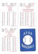 1972 APBA (Reprint) Season - BOSTON RED SOX Team Set